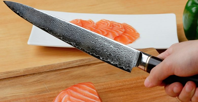 Chef's Knife from China AlieExpress - Japanese VG10 Damascus Chef's knife made in China 1