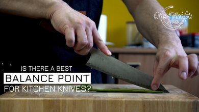 What is the best balance point for a kitchen knife